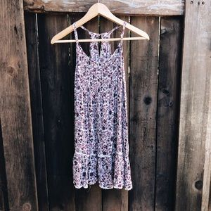 American Eagle Floral Racerback Casual Dress